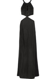 Pierre Balmain Woman Cutout Stretch-knit Maxi Dress Black