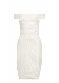 Pierre Balmain Woman Paneled Knitted Dress White