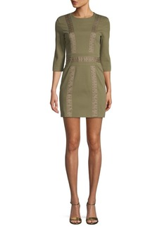 Pierre Balmain Studded Sheath Mini Dress
