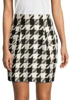 Pierre Balmain Textured Quarter-Zip Skirt