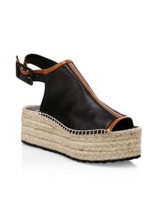 Pierre Hardy Alpha Leather Platform Wedge Sandals