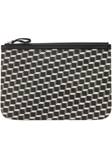 Pierre Hardy Black & White Large Cube Perspective Pouch