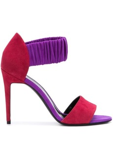 Pierre Hardy colour block ruche sandals