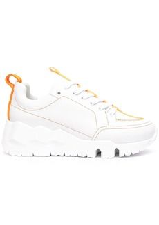 Pierre Hardy contrast-stitching low-top sneakers