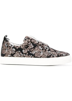 Pierre Hardy floral embroidered slider sneakers