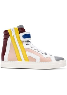 Pierre Hardy hi-top colour block sneakers