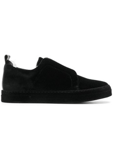 Pierre Hardy laceless velvet sneakers