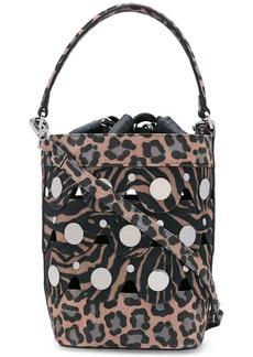 Pierre Hardy Penny leopard print bucket bag