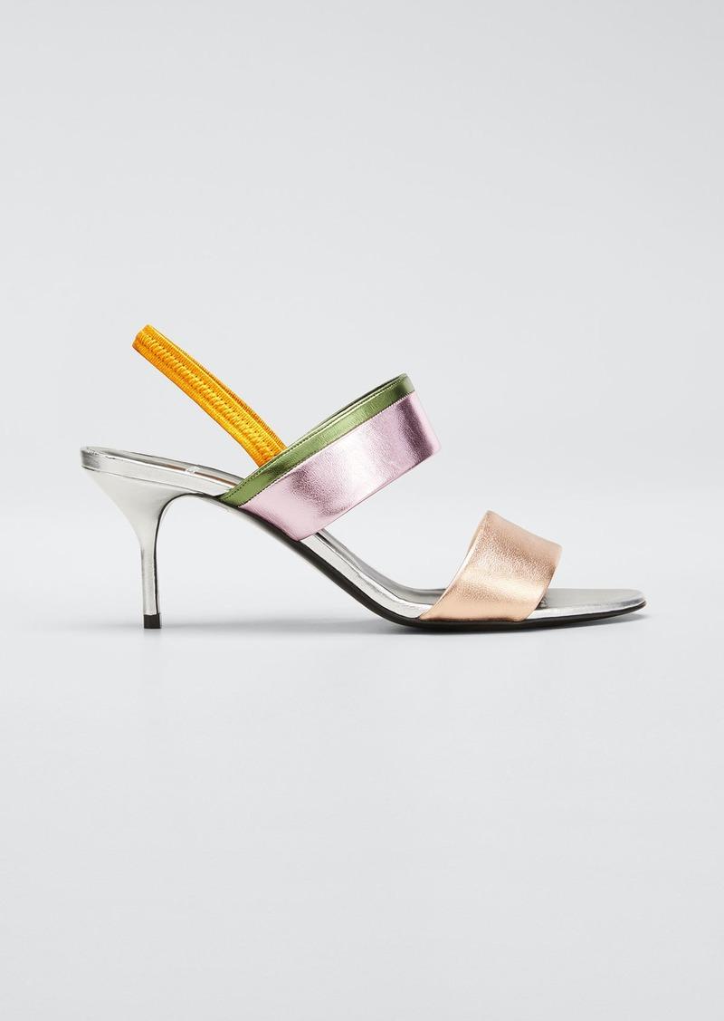 Pierre Hardy Alpha Par Metallic Slingback Sandals