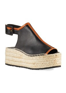 Pierre Hardy Alpha Two-Tone Leather Espadrilles