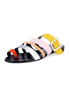 Pierre Hardy Dani Strappy Suede Slide Sandal