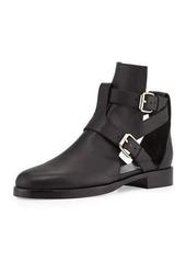 Pierre Hardy Double-Buckle Open Leather Boot