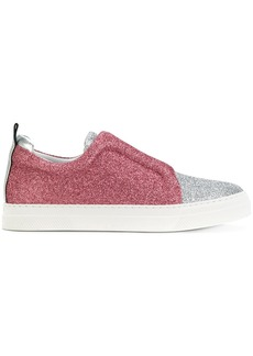 Pierre Hardy glitter slip-on sneakers - Metallic