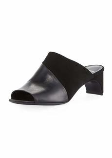 Pierre Hardy Leather & Suede Mule Sandal