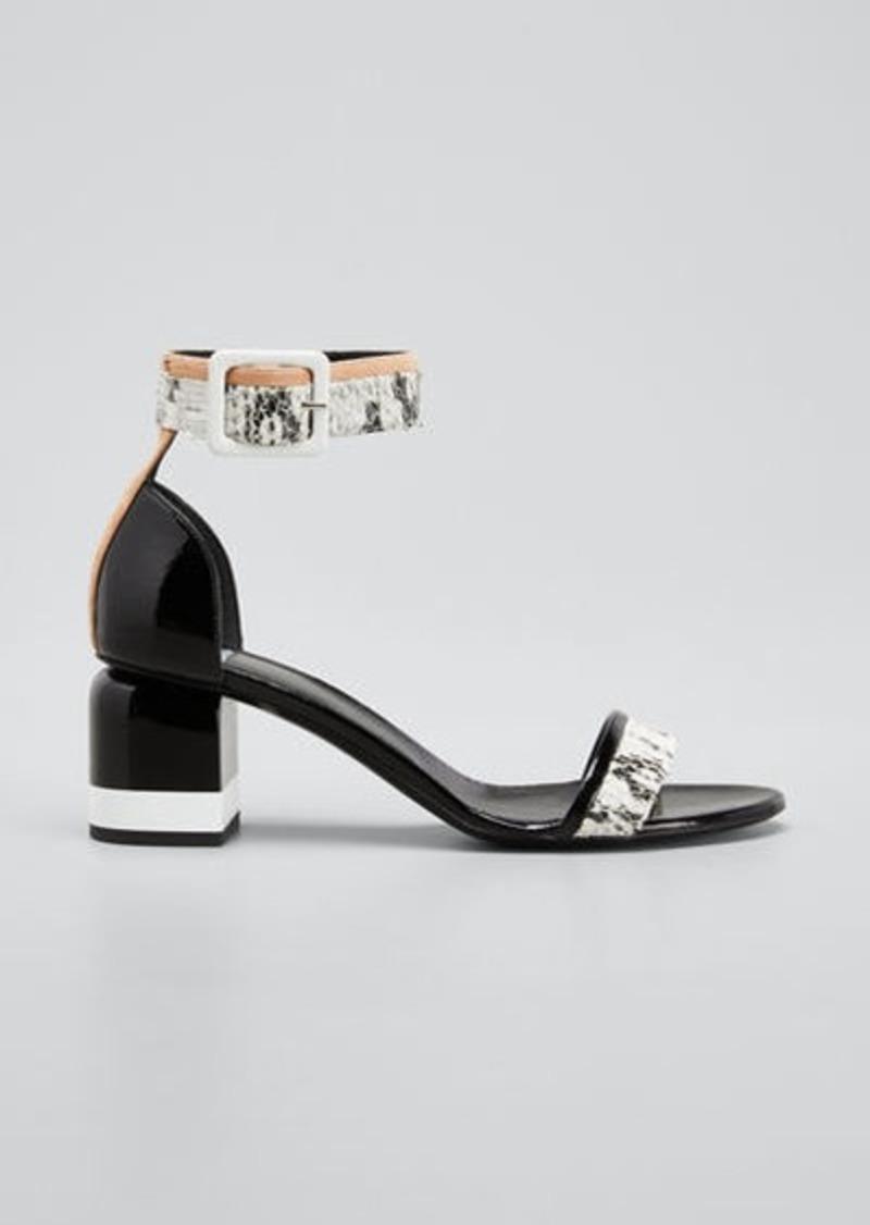Pierre Hardy Memphis Leather Block-Heel Sandals