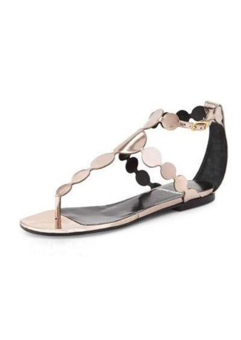 Pierre Hardy Metallic-Circle Leather Sandal