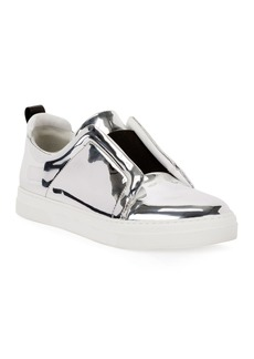 Pierre Hardy Slider Mirrored Low-Top Sneakers