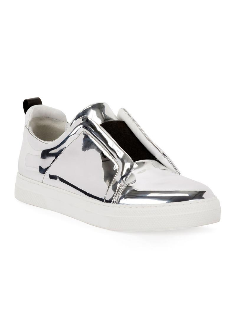 Pierre Hardy Slider Mirrored Low-Top Sneakers