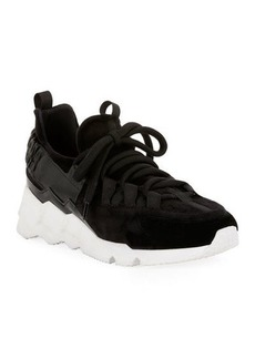 Pierre Hardy Trek Comet Neoprene/Leather Sneakers