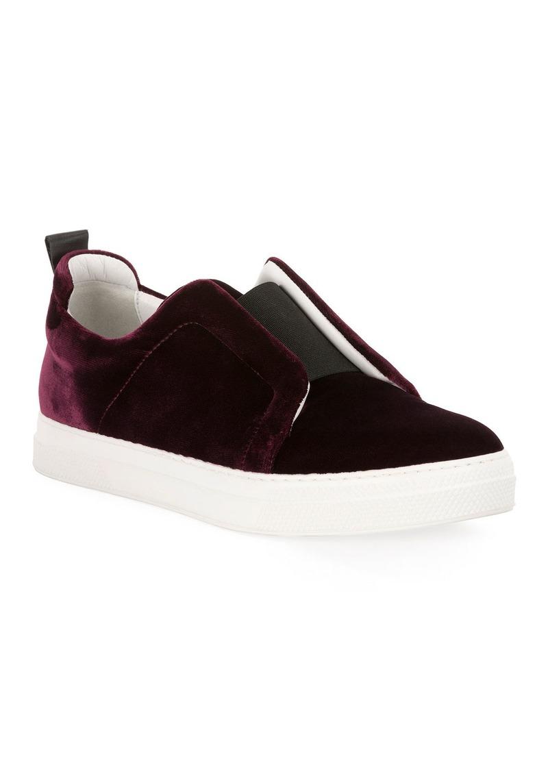 Pierre Hardy Velvet Slider Platform Sneakers