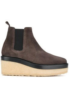 Pierre Hardy wedged chelsea boots - Brown