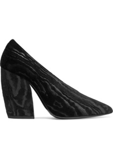 Pierre Hardy Woman Paloma Devoré-satin Pumps Black