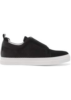 Pierre Hardy Woman Slider Velvet Slip-on Sneakers Black