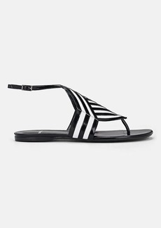 Pierre Hardy Women's Buren Striped Leather Sandals