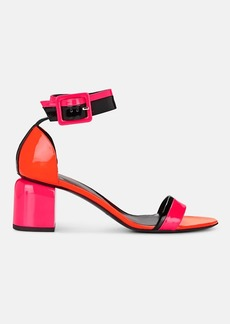 Pierre Hardy Women's Gae Colorblocked Patent Leather Sandals