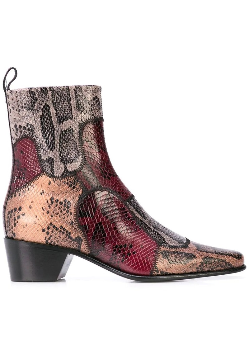 Pierre Hardy Reno Patch ankle boots