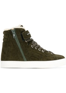 Pierre Hardy shearling hi-top sneakers
