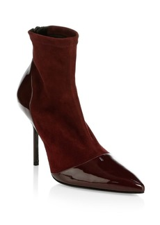 Pierre Hardy Suede & Leather High Heel Ankle Boots