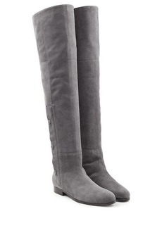 Pierre Hardy Suede Over the Knee Boots