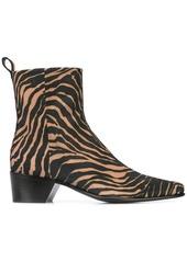 Pierre Hardy zebra print boots