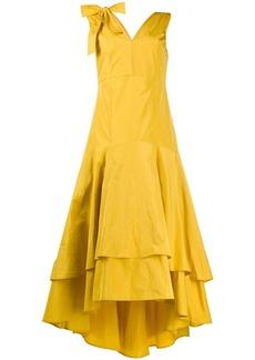 Pinko asymmetric tiered gown