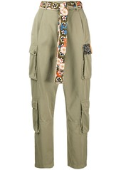Pinko belted cargo trousers
