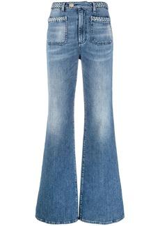 Pinko braided-edge flared jeans