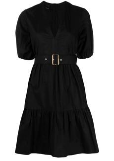 Pinko buckled tiered short dress