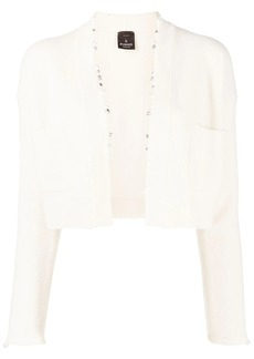 Pinko Catalani pearl-embellished cropped cardigan