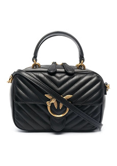 Pinko chevron quilted tote bag