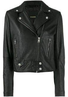 Pinko classic leather jacket
