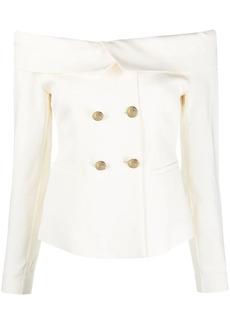 Pinko cold-shoulder blazer-style top