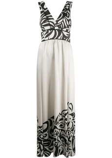 Pinko contrast print gown