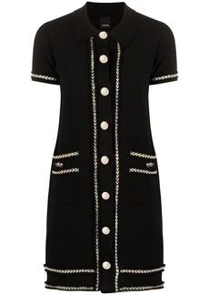 Pinko contrast trim textured dress