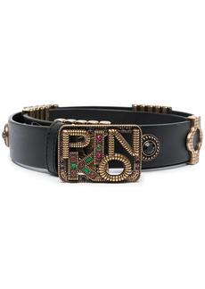 Pinko crystal-embellished belt