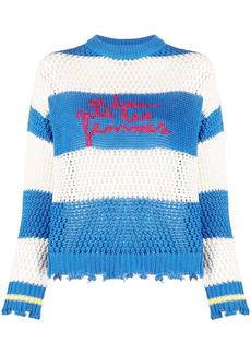 Pinko embroidered logo striped jumper