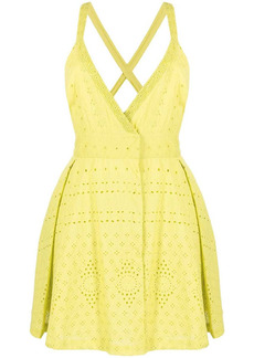 Pinko empire line embroidered short dress