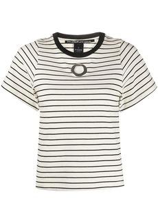 Pinko eyelet detail striped T-shirt