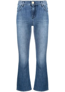 Pinko Fannie cropped flared-leg jeans