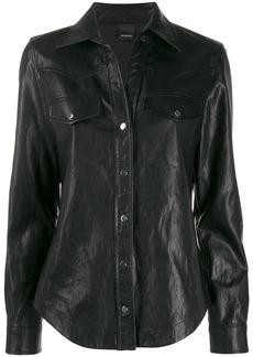 Pinko faux-leather shirt
